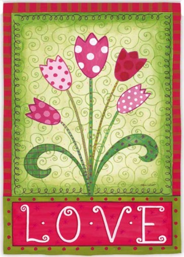 Love Tulips Garden Flag