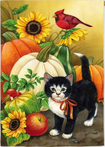 Gourds and Kitten House Flag