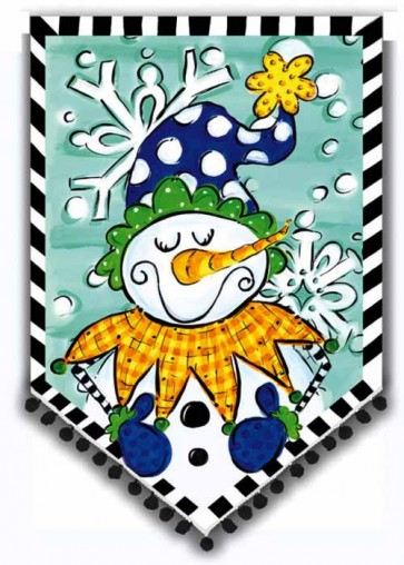 Tom Tom Jolly Snowman Garden Flag