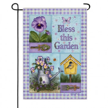 Bless this Garden Garden Flag