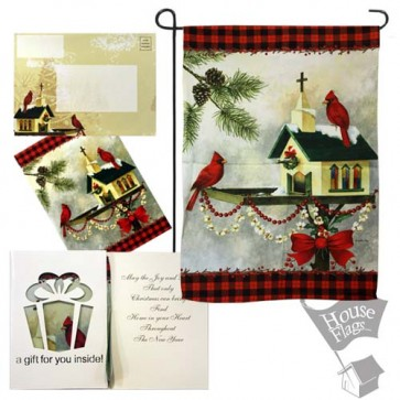 Christmas in the Air Garden Flag (EverGreetings Set)