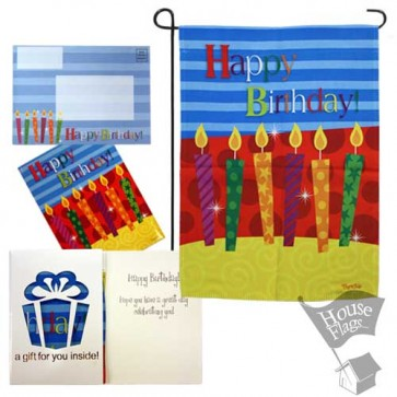 Happy Birthday Garden Flag (EverGreetings Set)