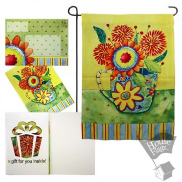 Sunny Flowers Garden Flag (EverGreeting Set)
