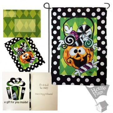 Candy Jack Halloween Garden Flag (Evergreetings)