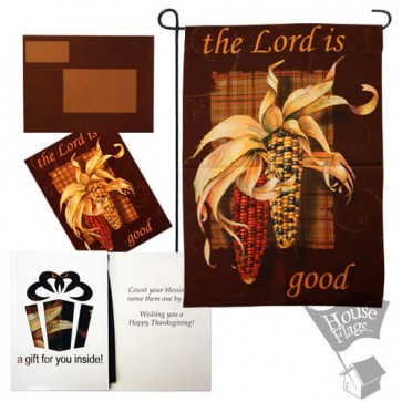 The Lord is Good Thanksgiving Garden Flag
