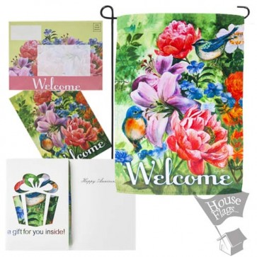 Anniversary Welcome Garden Flag (EverGreetings Set)