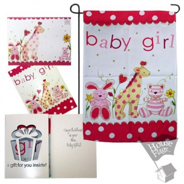 Baby Girl Garden Flag (EverGreeting Set)