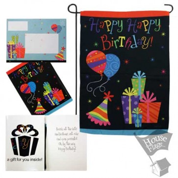 Happy Happy Birthday Garden Flag (EverGreetings Set)