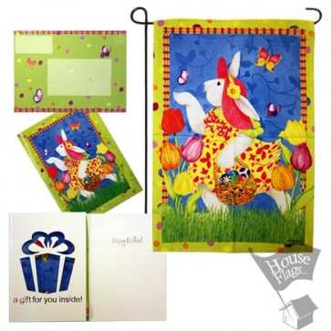 Easter Bunny garden Flag (EverGreetings Set)