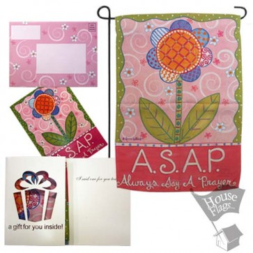 Always Say A Prayer Garden Flag (Evergreetings Set)