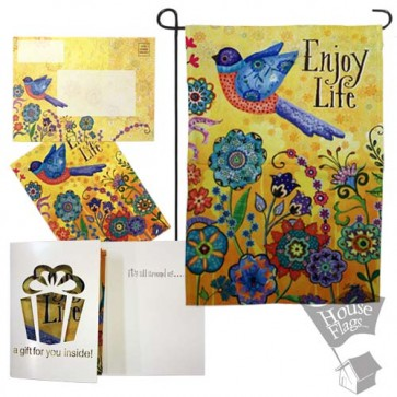 Enjoy Life Garden Flag (EverGreetings Set)