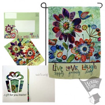 Live Love Laugh Garden Flag (EverGreetings Set)