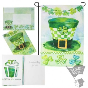 St Pat's Hat Garden Flag (EverGreeting Set)