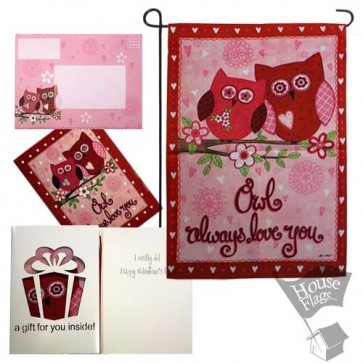 Owls always Love You Garden Flag