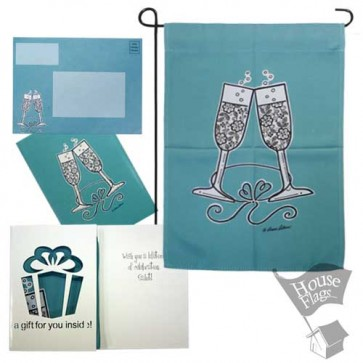 Wedding Cheer Garden Flag (EverGreetings Set)