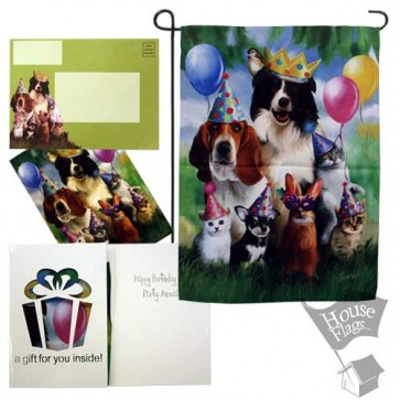 Party Animal Garden Flag (EverGreetings Sets)
