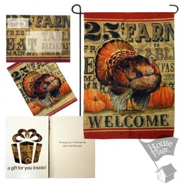Thanksgiving Turkey Garden Flag (EverGreetings Set)