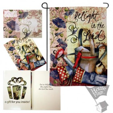 Delight in the Lord garden Flag (EverGreetings Set)