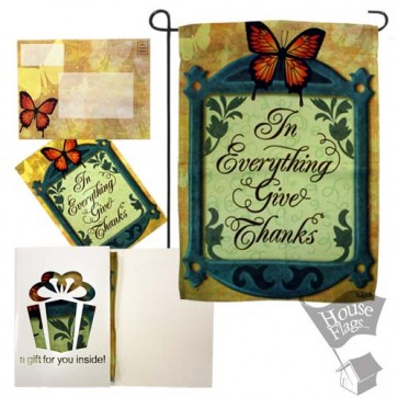 Give Thanks Garden Flag (EverGreetings Set)