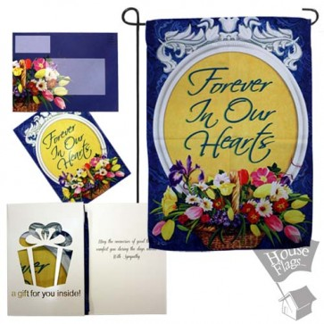 Forever in Our Hearts Garden Flag (Evergreetings Set)