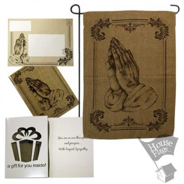 Prayer Hands Garden Flag (SYMPATHY)
