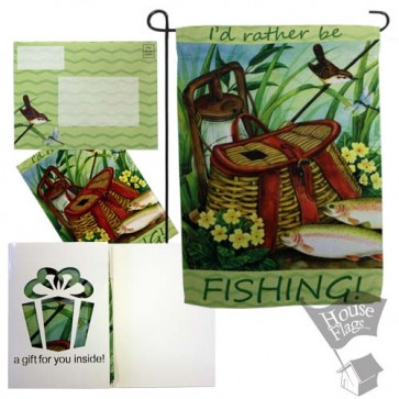 I'd Rather be Fishing Garden Flag (EverGreetings Set)