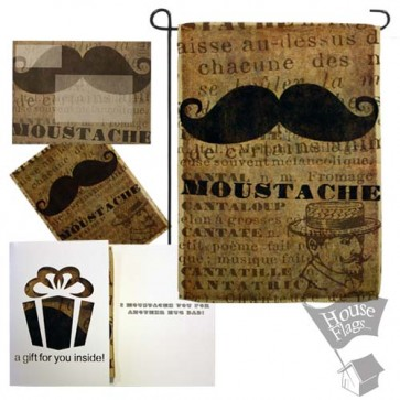 Moustache Garden Flag (FATHERS' DAY)