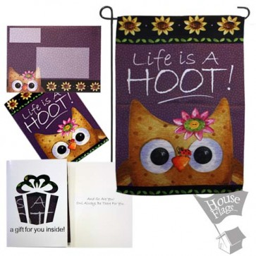My Life is a Hoot Garden Flag (INSPIRATIONAL)