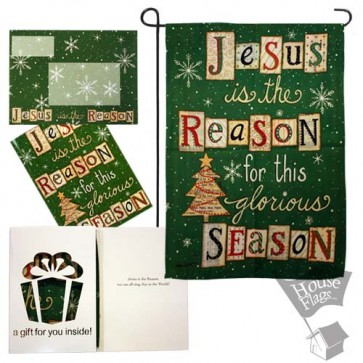 Jesus is the Reason Garden Flag (EverGreetings Set)