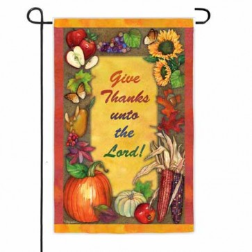 Give Thanks Unto the Lord Garden Flag