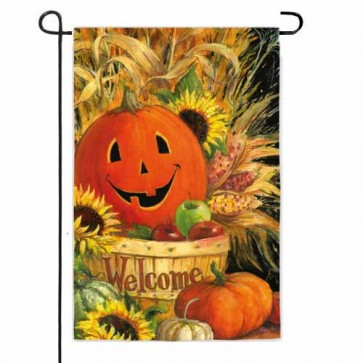Pumpkin Basket Garden Flag