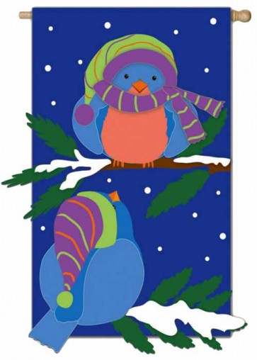 Snow Birds Garden Flag