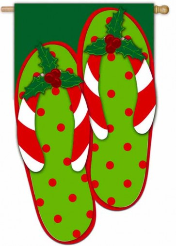 Holly Jolly Flip Flops House Flag