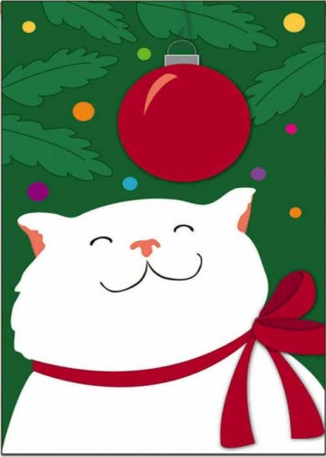 Happy Christmas Kitty House Flag