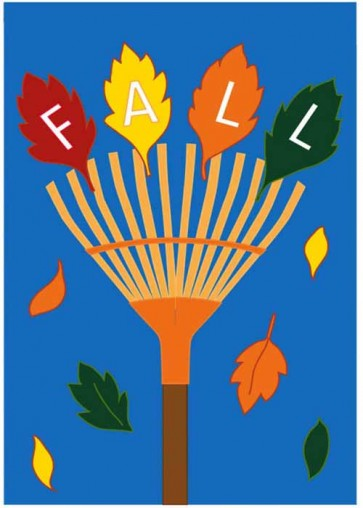 Fall Rake House Flag