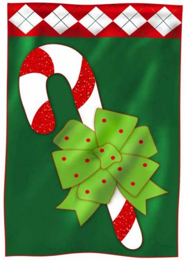 Candy Cane Fun Garden Flag