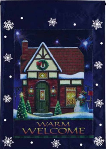 Warm Welcome Halogram Garden Flag