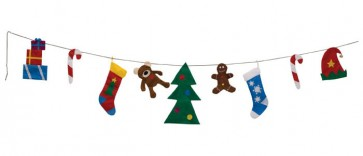Christmas Time Clothesline Banner (15 Feet Long)