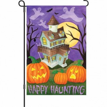 Happy Haunting Garden Flag