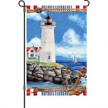 Nautical Lighthouse Garden Flag