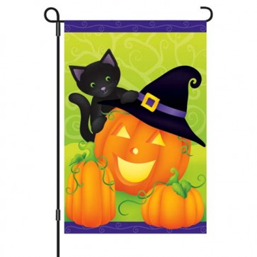 Hello Halloween Garden Flag
