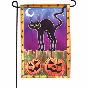 Spooky Night Garden Flag