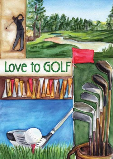 Love Golf Garden Flag