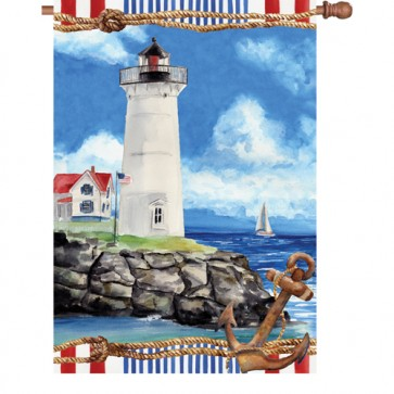 Nautical Lighthouse House Flag
