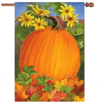 Autumn Pumpkin House Flag