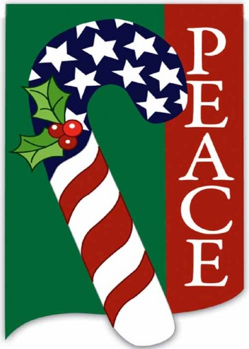 Peace Candy  Cane Garden Flag