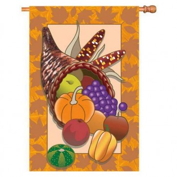 Harvest Cornucopia House flag