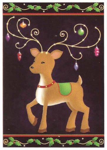 Reindeer Ornament House Flag