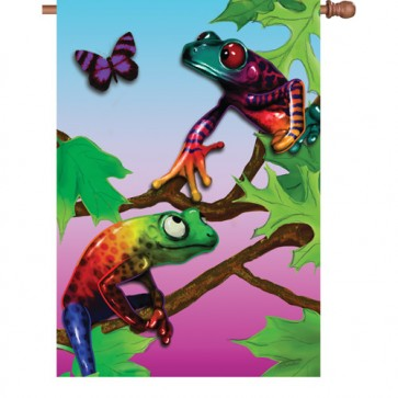 Frolicking Frogs House Flag