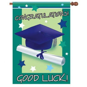 Good Luck Graduate House Flag